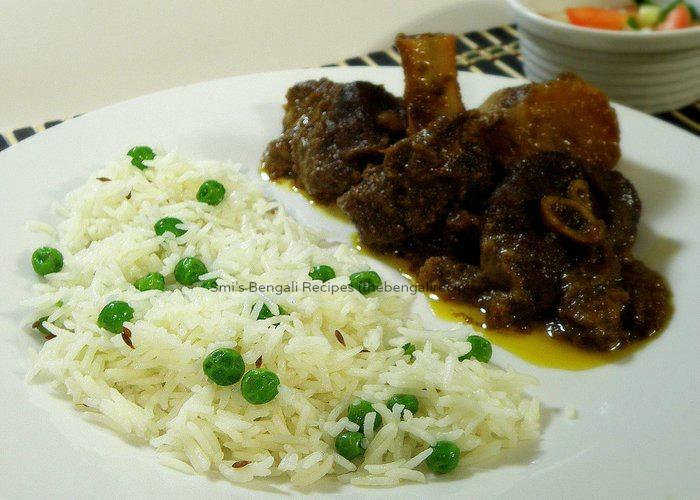 Peas Pulao or polao rice with green peas . Bengali Peas Pulao or peas ...